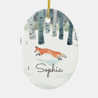 Winter Fox Christmas Ornament