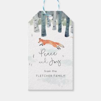 Winter Fox Gift Tags