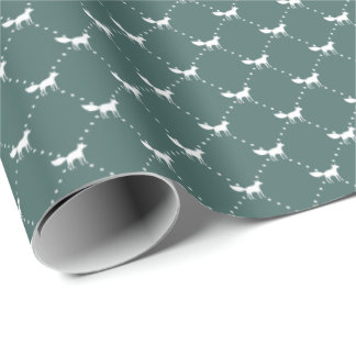 Winter Fox Pattern Wrapping Paper