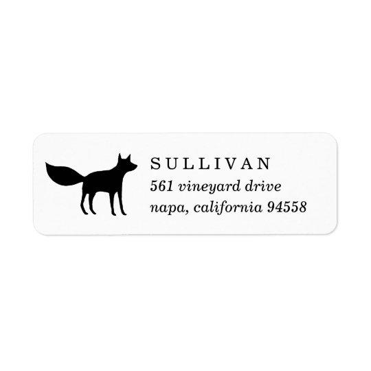 Winter Fox Return Address Return Address Label