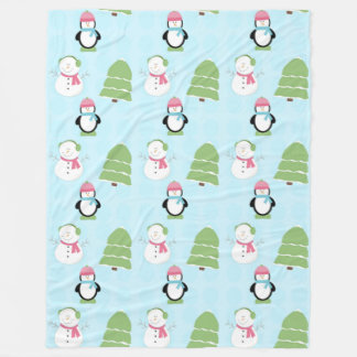 Winter Friends Fleece Blanket