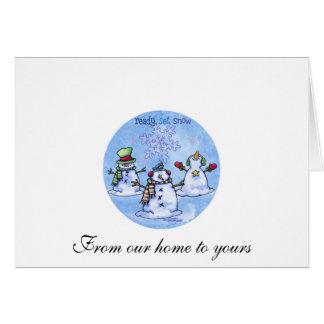 Winter Friends - Snowmen Greeting Card