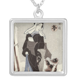Winter, from the series 'Shiki no uchi' Silver Plated Necklace