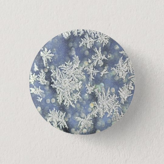 Winter Frost Detail Photograph 3 Cm Round Badge