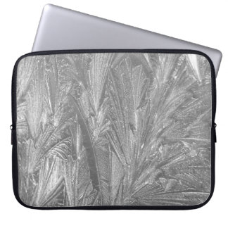 "Winter Frost in Black and White 15"" Laptop Sleeve"