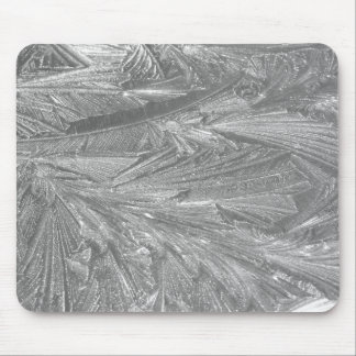 Winter Frost in Black and White Mouse Mat