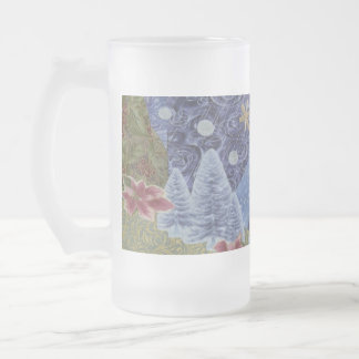 Winter Frost 16 Oz Frosted Glass Beer Mug