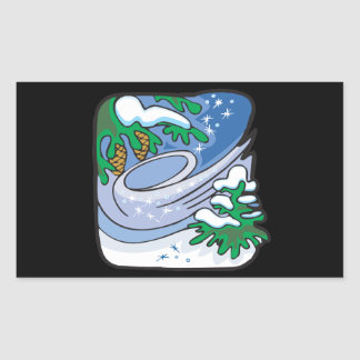 Winter Frost Rectangular Sticker