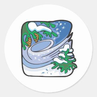 Winter Frost Round Sticker