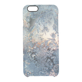 Winter frost snowflakes bling snowflake bokeh clea clear iPhone 6/6S case