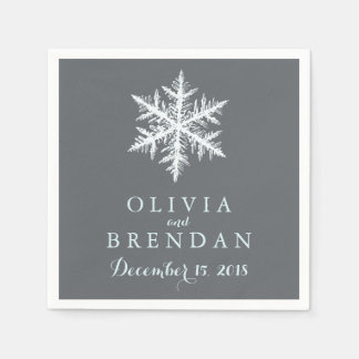 Winter Frost Snowflakes | Wedding Disposable Serviette