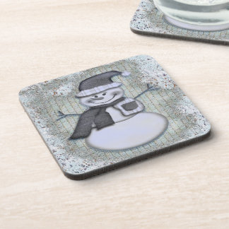 Winter Frost Snowman Christmas Holiday Decor Coaster