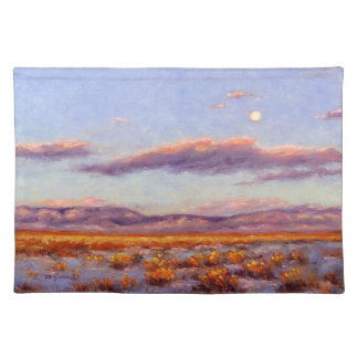 Winter Full Moon at Dusk 1 Sided Cotton Placemat
