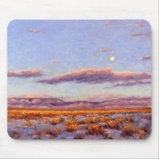 Winter Full Moon at Dusk in the Mountains Mousepad