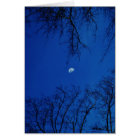 Winter Full Moon With Trees Card
