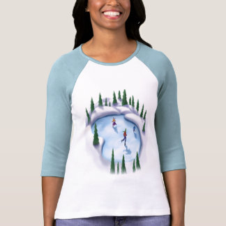 Winter-fun iceskating, t-shirt