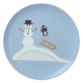 Winter Fun Party Plate