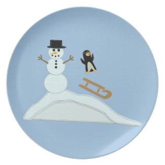 Winter Fun Plate