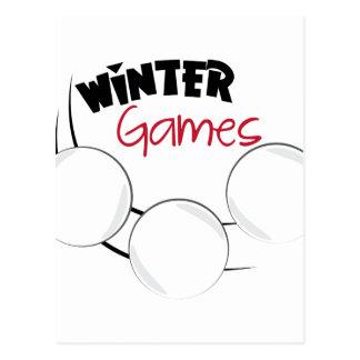 Winter Games Postcard