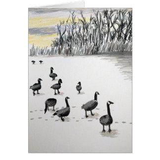 Winter Geese Card