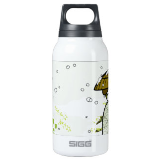 Winter Geisha Kitty Insulated Water Bottle