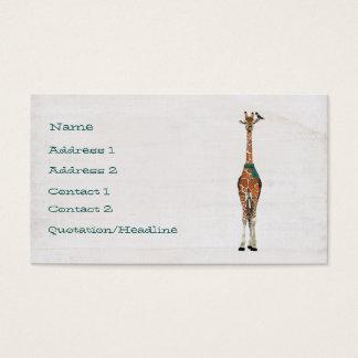 WINTER GIRAFFE & BIRD Business Card