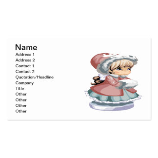 Winter Girl Pack Of Standard Business Cards