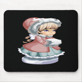 Winter Girl Mouse Pad