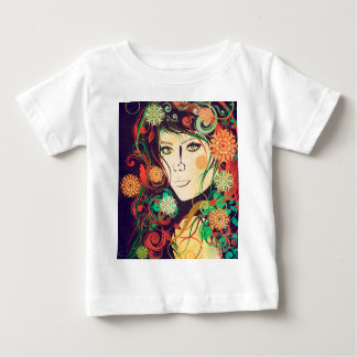 Winter Girl with Floral Grunge 2 T Shirts