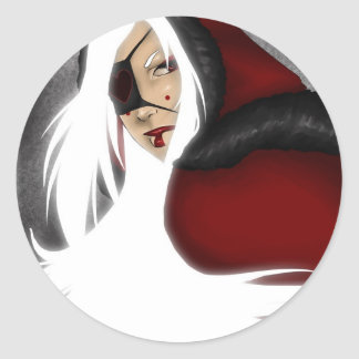Winter GLOW Classic Round Sticker