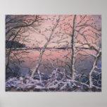 Winter Glow Landscape Snow Art Print