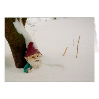 Winter Gnome Card