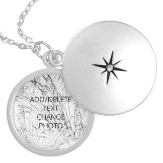 Winter Grass In Snow Silver Plated Necklace