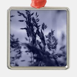 Winter Grass Silver-Colored Square Decoration