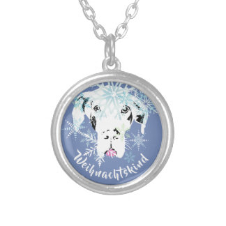 Winter Great Dane Silver Plated Necklace