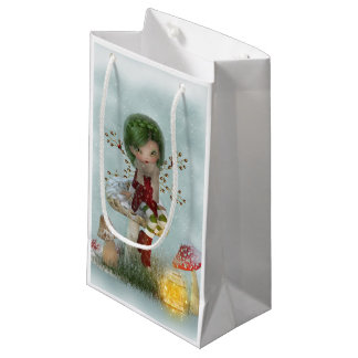 Winter Green Small Gift Bag
