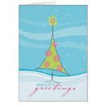 WINTER GREETING CARD :: whimsical christmastree 1P