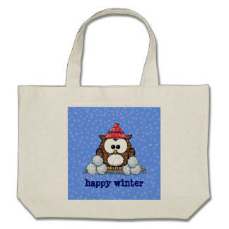 winter greetings tote bags