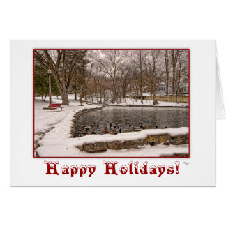 Winter Happy Holidays Christmas Greeting Card