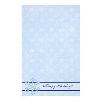 Winter Happy Holidays Snowman Stationery