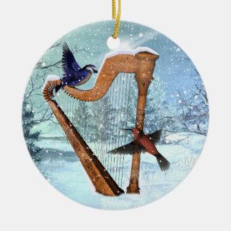 Winter harp ornament customize