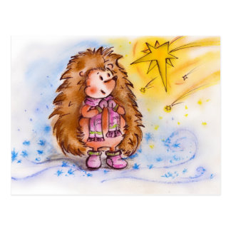 Winter Hedgehog Set! Postcard