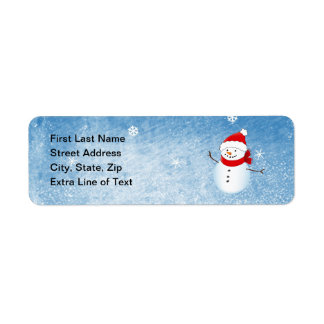 Winter Holiday Address Avery Label Return Address Label
