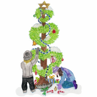 Winter Holiday Love Tree Sculpture Standing Photo Sculpture