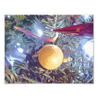 Winter Holiday Ornaments Photo Print