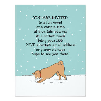 Winter Holiday Shiba Inu Party Announcements