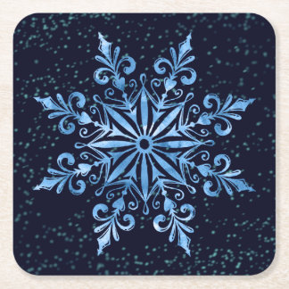 Winter Holiday Snowflake Party Coaster
