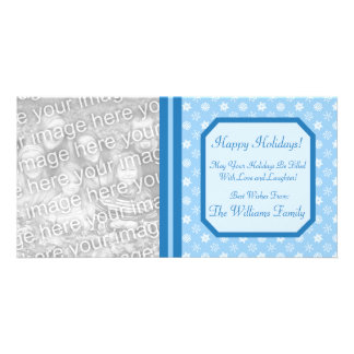 Winter Holiday Snowflakes Christmas Photo Card