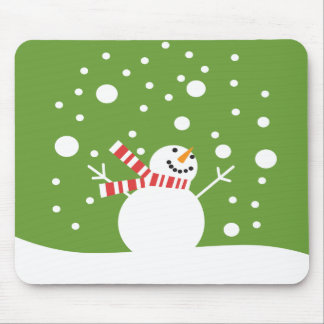 Winter Holiday Snowman Mouse Pad