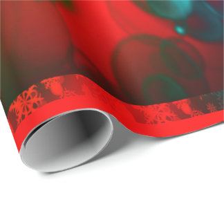 Winter Holidays Red and Green wrappingpaper, snow Wrapping Paper